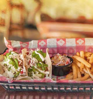 Photo of Fish Tacos at Island Dogs Bar in Key West, FL